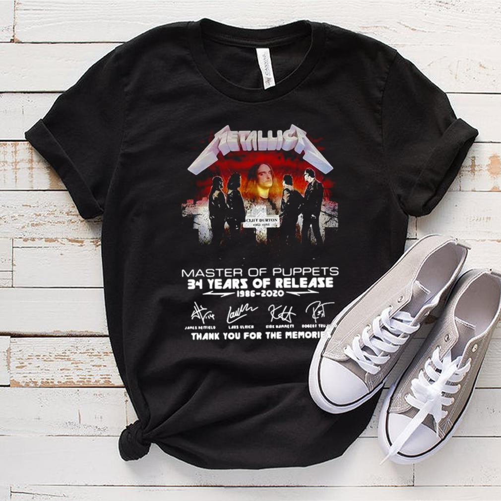 Metallica Master Of Puppets 34 Years Of Release 1986 2020 T shirt 3