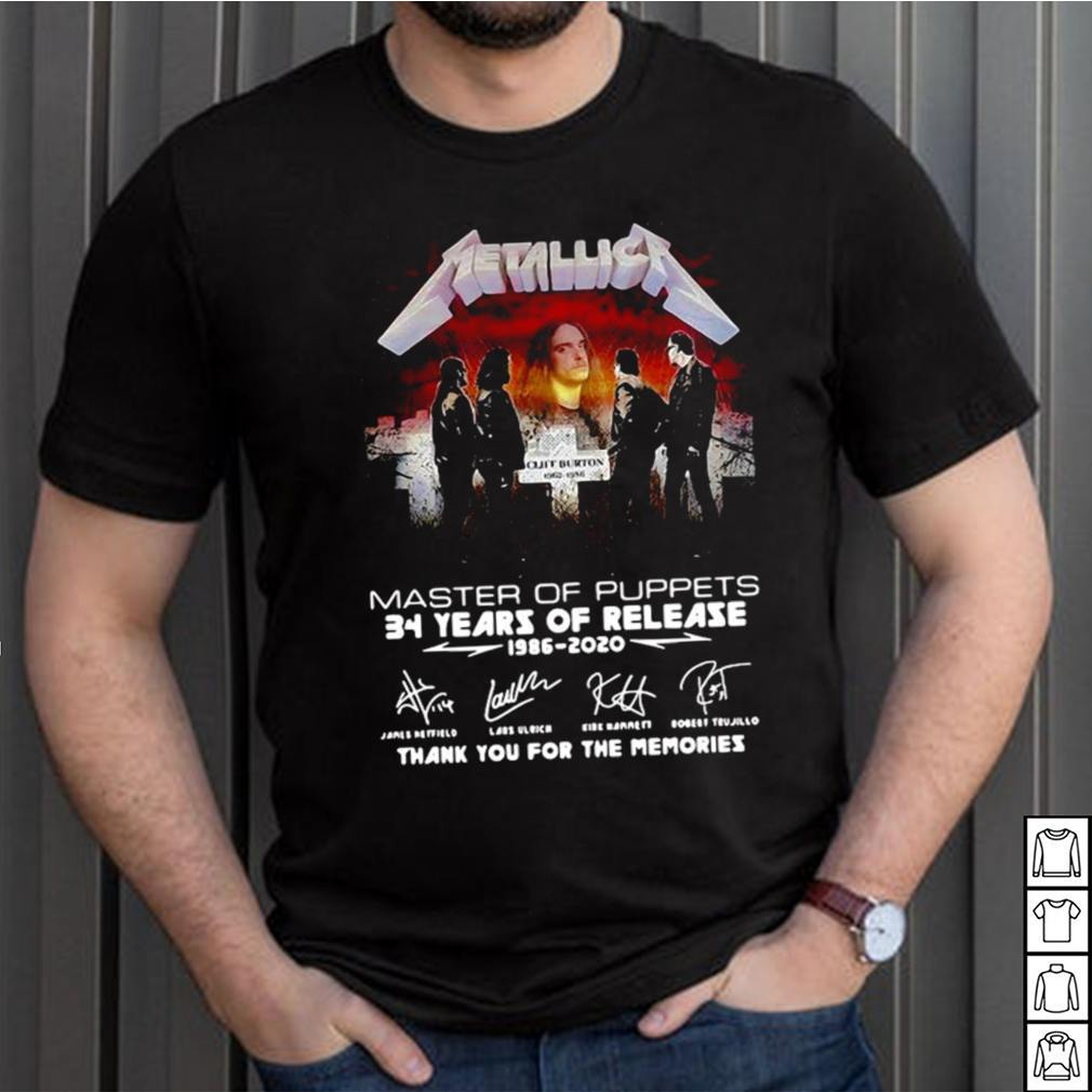 Metallica Master Of Puppets 34 Years Of Release 1986 2020 T shirt