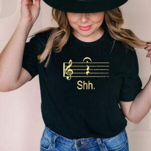 Music note shh shirt