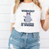 Raccoon workout because murder is wrong shirt 3