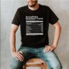 Snowflake nutrition facts Socialist Capitalism funny T Shirt