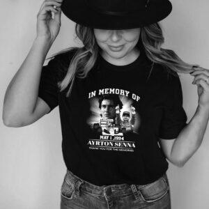 Anna In Memory Of May 1 1994 Ayrton Senna Thank You For The Memories T shirt