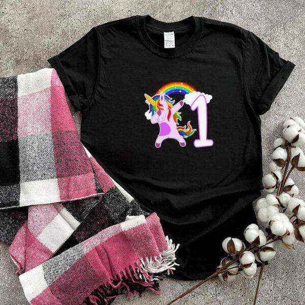 Dabbing unicorn I am 1 years old shirt