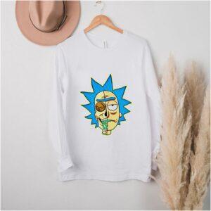 Half Skull Rick Sanchez shirt