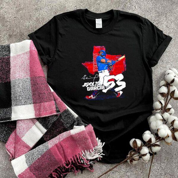 Texas Baseball 53 Adolis Garcia hit the ball shirt