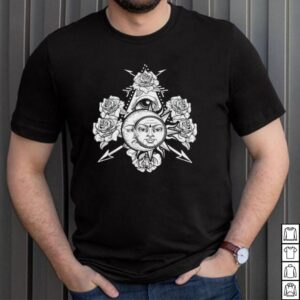 All Seeing Floral Sun Crescent Moon Rose Boho Astronomy shirt