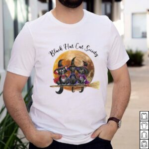 Black hat cats society witch halloween shirt