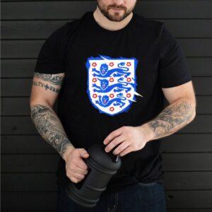 England Three Heraldic Lions Crest Soccer Football 2020 2021 T Shirt