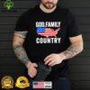 GOD FAMILY COUNTRY Christian American Flag USA Map Shirt