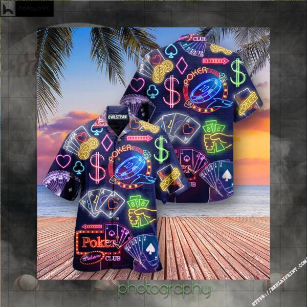 Gambling No Poker No Party Edition - Hawaiian Shirt