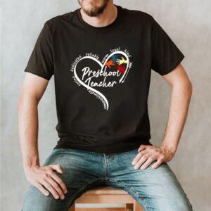 Heart Compassionate Caring Dedicated Reliable Warm Loyal Kind Preschool Teacher T shirt