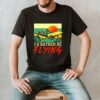 I'd Rather Be Flying Airplane Pilot Vintage T Shirt