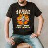 Jesus is my savior hot rod is my therapy cross shirt