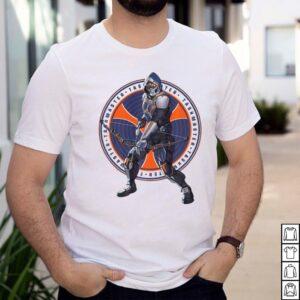Marvel Black Widow Taskmaster Logo Overlay T shirt