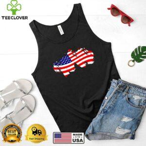 Patriotic US Flag July 4th T Shirt