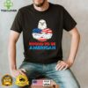 Proud To Be An American Patriotic 4th of July Eagle US Flag T Shirt