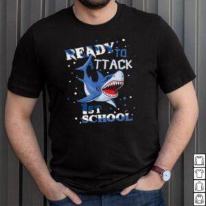 Ready To Attack 1st Grade Student Shark Back to School Shirt shirt