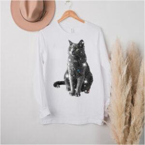 Sitting Black Cat shirt
