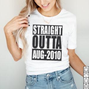 Straight Outta 2010 11th Bithday Retro 11 Years Old Birthday shirt