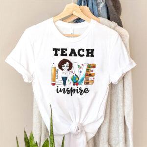 Teacher Love Name Here Inspire Back to School shirt