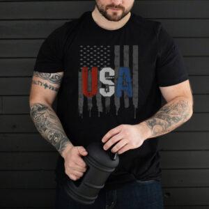 USA American Flag Shirt US Patriotic July 4th Vintage Tshirt T Shirt