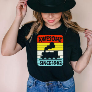 59th Birthday Train Awesome Since 1962 Age 59 Vintage T shirt