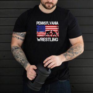 American Flag Pennsylvania Wrestling Vintage T shirt