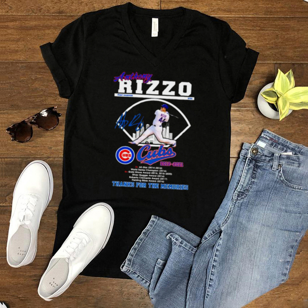Anthony Rizzo Cubs 2012 2021 Thank You For The Memories Shirt