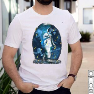 Astronaut Funny Spaceman Meteor Shower Galaxy T shirt