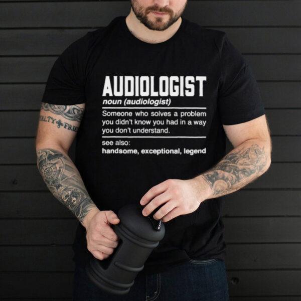 Audiologist Definition Sound Engineer Noun T Shirt