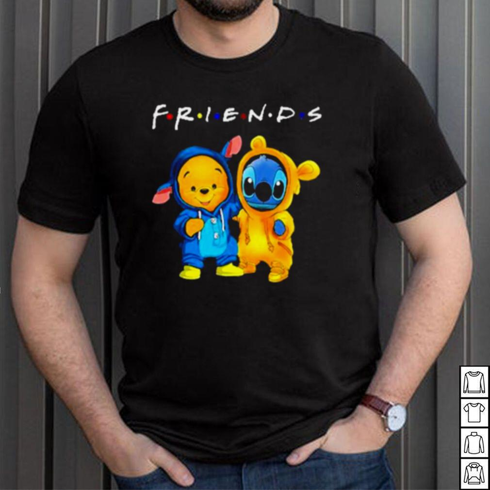 Baby Stitch and Baby Winnie the Pooh friends shirt