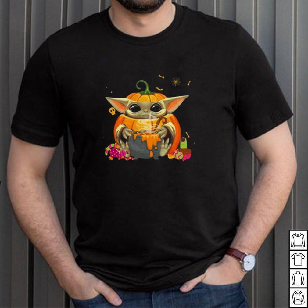 Baby yoda coslay pumpkin shirt