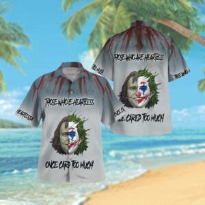 Batman Joker half face heartless cared too much Hawaiian Hawaiian Shirt