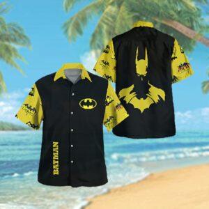 Batman Logo Yellow Hawaiian Hawaiian Shirt