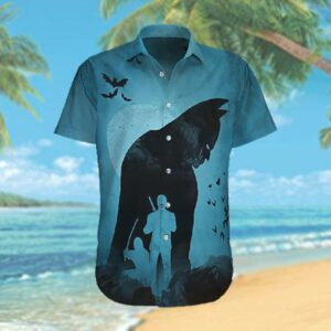 Batman Shadow with Ninja Hawaiian Hawaiian Shirt