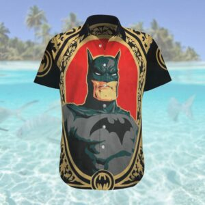 Batman painting portrait Hawaiian Shirt