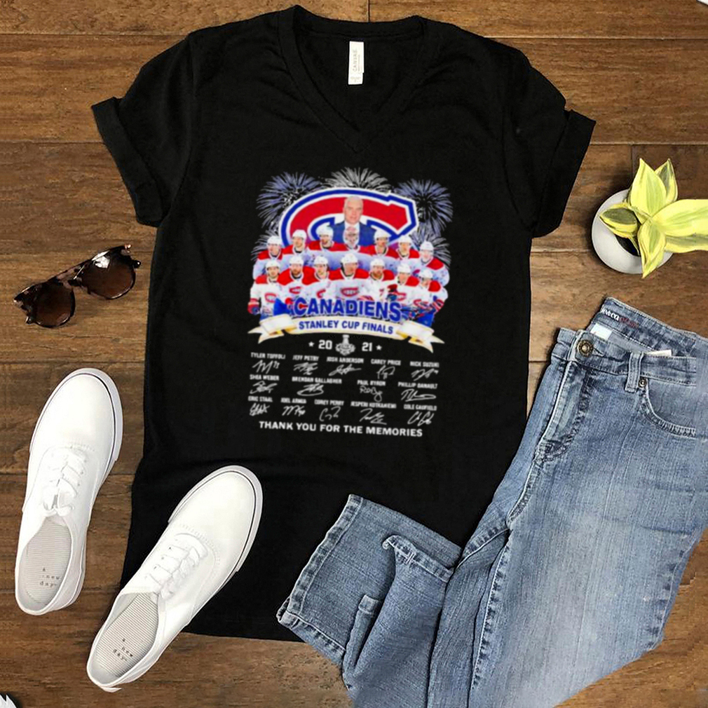Canadiens stanley cup finals thank you for the memories firework signature shirt