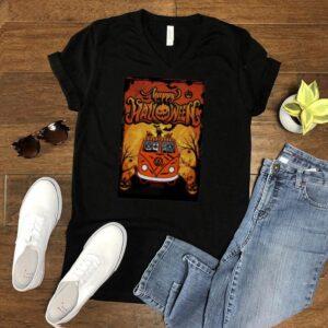 Cat hippie car happy Halloween shirt