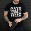 Cats and weed shirt