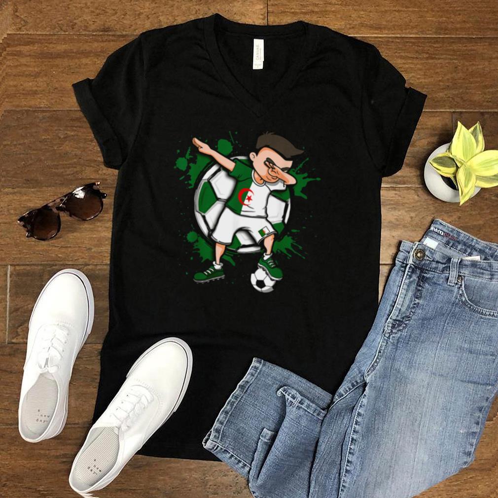 Dabbing Soccer Boy Algeria Footballs Jersey Flag Sport shirt