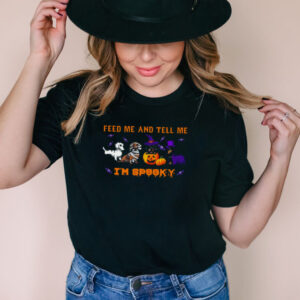 Dachshunds feed Me and tell Me Im spooky Halloween shirt