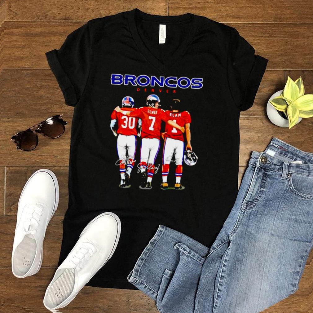 Denver Broncos best players Phillip Lindsay and Elway and Elam shirt