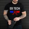 ER Technician Emergency Room Tech Vaccinated Flag T Shirt