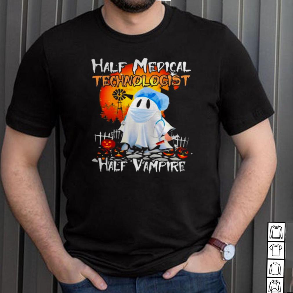 Ghost Half Medical Technologist Half Vampire Halloween T shirt