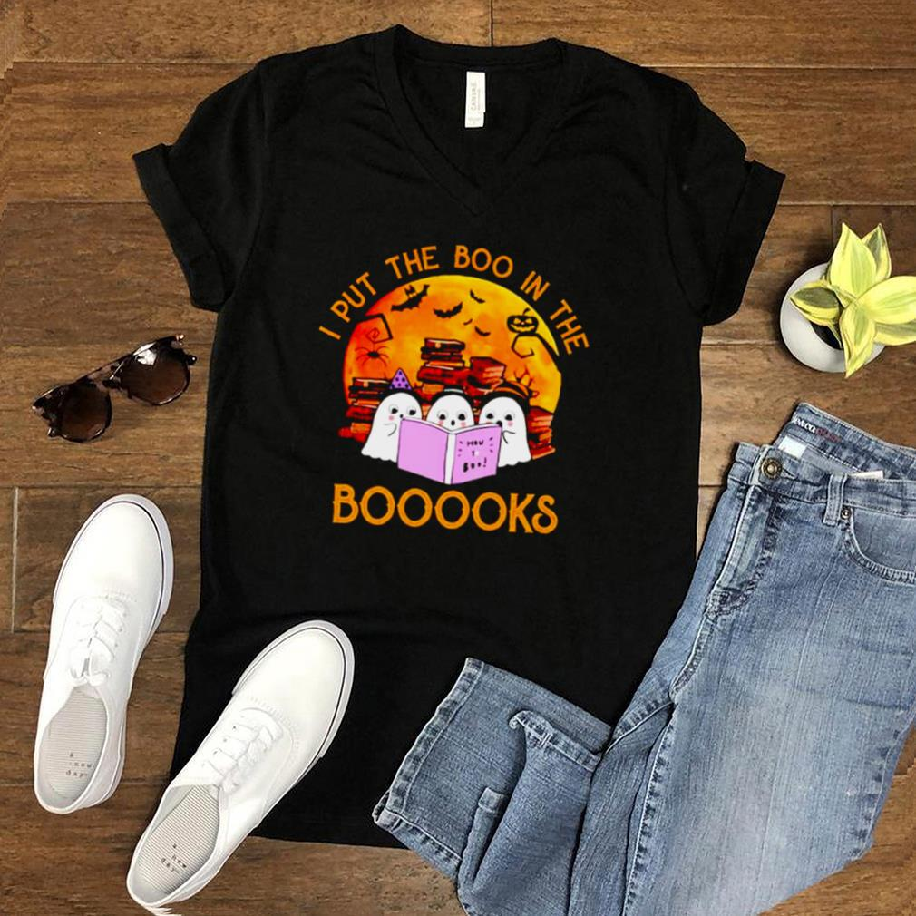 Ghost I put the boo in the booooks Halloween shirt