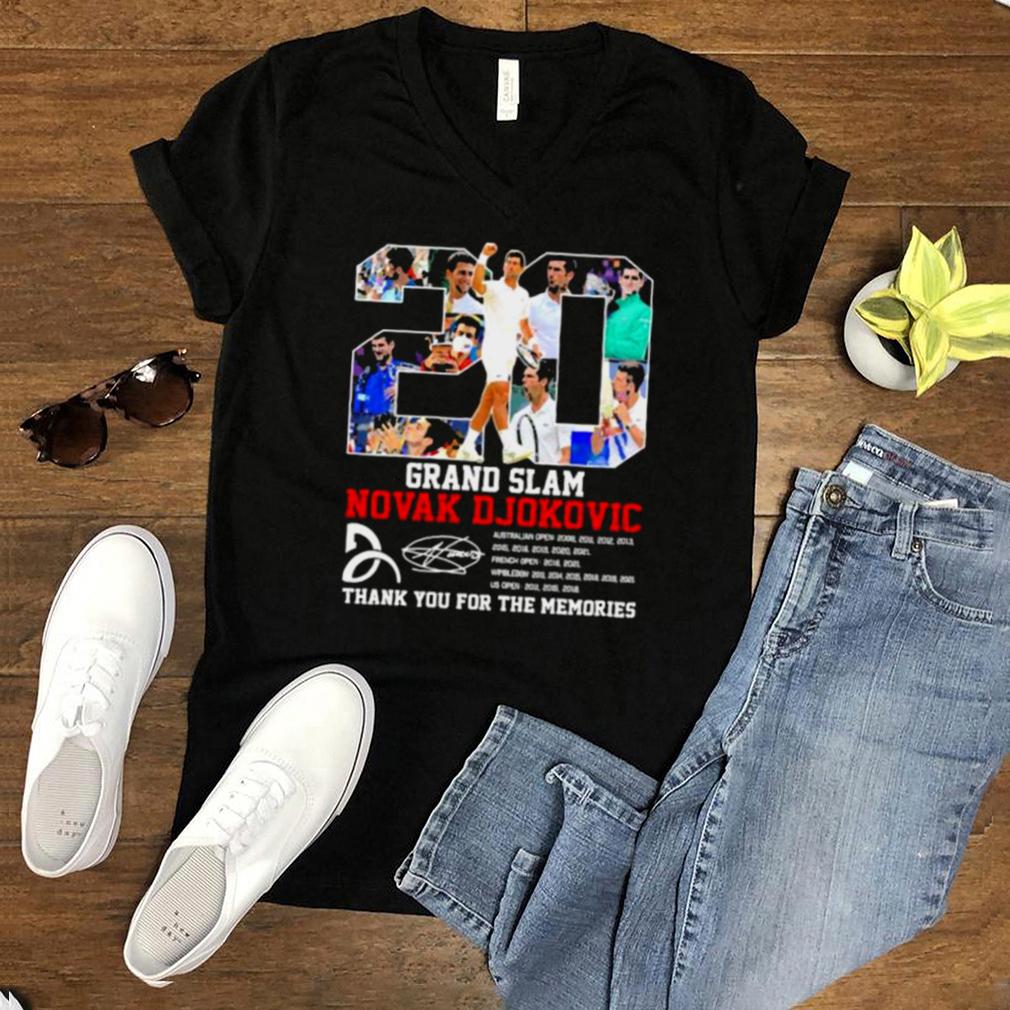 Grand slam novak djokovic thank you for the memories signature shirt