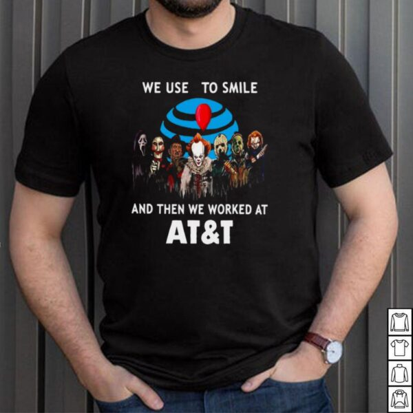 Halloween Horror Movie Chibi Character We Used To Smile And Then We Worked At ATT T shirt