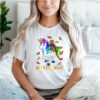 Happy Thanksgiving Unicorn Turkey T Shirt