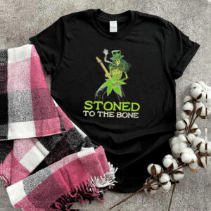 Hippie Weed Skeleton Skull Smoking Stoned To The Bone shirt
