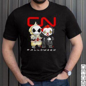 Jack Skellington and Pennywise Canadian National Railway Halloween shirt